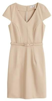 MANGO Belt cotton dress