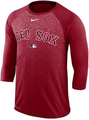 Nike Men's Boston Red Sox Ac Cross-Dye Raglan T-Shirt