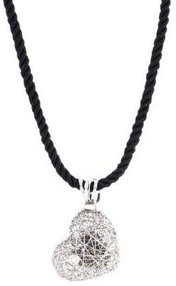 Orlando Orlandini 18K Diamond Heart Pendant Necklace