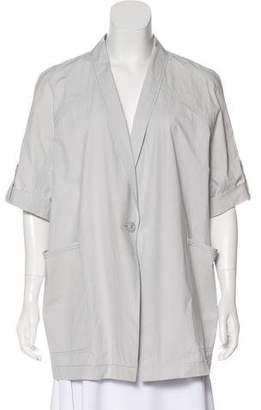 TSE Collared Short Sleeve Top