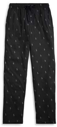 Ralph Lauren Pony-Print Pajama Pant