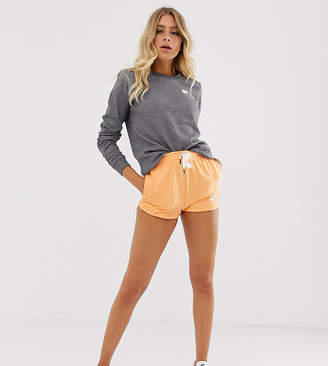 Nike Orange High Waisted Runner Shorts