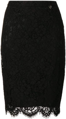 Twin-Set lace pencil skirt