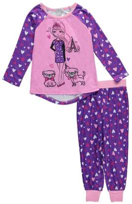 "Komar Kids Big Girls' ""Parisian Princess"" 2-Piece Pajamas"