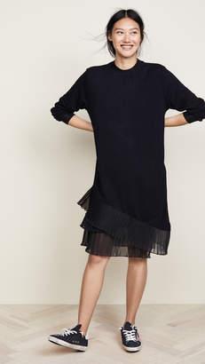 Clu Contrast Pleated Dress