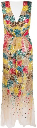Elisabetta Franchi sequinned cocktail dress