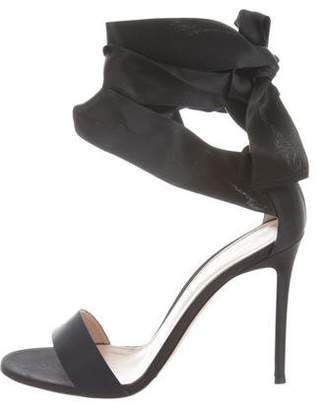 Gianvito Rossi Satin Wrap-Around Sandals