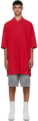 Random Identities Red Oversized Cut-Out Polo