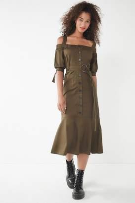 Lucca Couture Gela Cold Shoulder Midi Dress