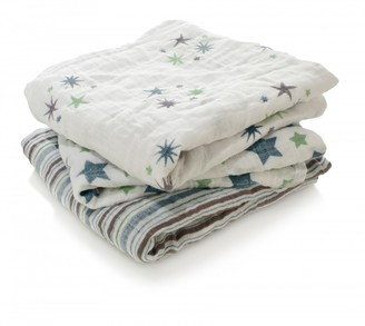 aden + anais Swaddle - Blue Stars - Pack of 3 $39.60 thestylecure.com