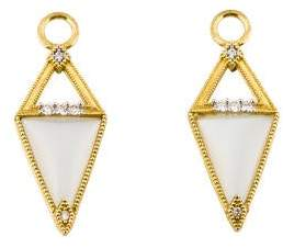 Jude Frances 18K Diamond-Accented Moonstone Lisse Earring Enhancers