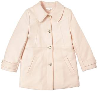 Chloé Wool Felt Coat With Faux Fur Lining