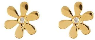 Sydney Evan Syd by 14K Yellow Gold Plated Sterling Silver Diamond Daisy Stud Earrings - 0.02 ctw
