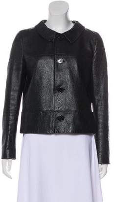 Saint Laurent Crinkled Leather Jacket