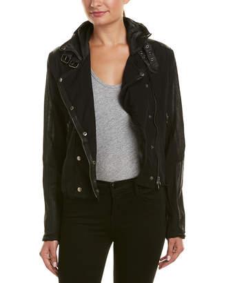 Jakett Harley Leather-Trim Jacket