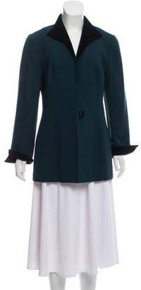 Christian Dior Velvet-Accented Casual Blazer