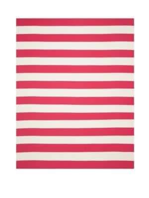 Safavieh Montauk Striped Red & White Cotton Rug