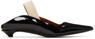 Proenza Schouler Black Patent Slingback Wave Heels