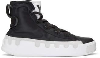 Y-3 Y 3 Black Kasabaru High-Top Sneakers