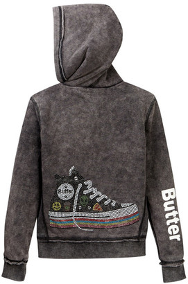 Butter Super Soft Burnout Fleece Zip Hoodie (Big Girls) $98 thestylecure.com