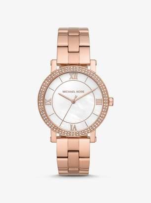 Michael Kors Norie Rose Gold-Tone Watch