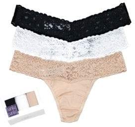 Hanky Panky 3-Pack Cotton Conscience Low Rise Thongs