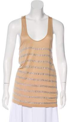 Torn By Ronny Kobo Sleeveless Embellished Top