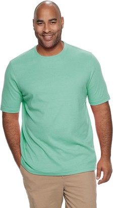 Croft & Barrow Big & Tall Classic-Fit Extra Soft Interlock Crewneck Tee