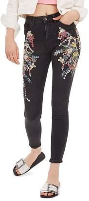 Topshop MOTO Jamie Ditzy Embellished Jeans