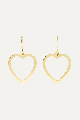 Jennifer Meyer Open Heart 18-karat Gold Earrings