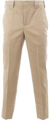 Neil Barrett contrast-hem tailored trousers