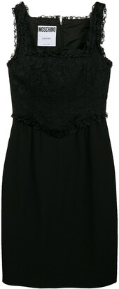 Moschino Pre-Owned lace panel short dress