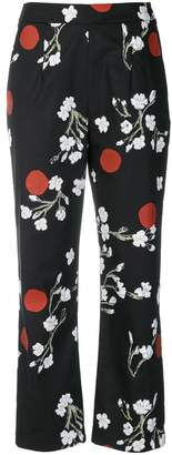 Isa Arfen floral print cropped trousers