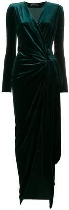 Alexandre Vauthier V-neck long wrap dress