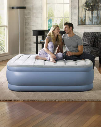 Simmons Hi Loft Queen Size Raised Air Bed Mattress with Express Pump