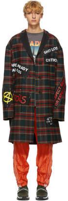 R 13 Multicolor Punk Coat