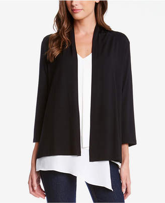 Karen Kane Molly Three-Quarter-Sleeve Knit Cardigan