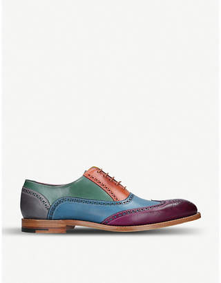 Barker Valiant multi-coloured leather oxford shoes