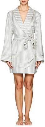 Kiki de Montparnasse Women's Striped Silk Short Robe