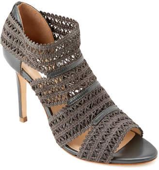 LK Bennett L.K.Bennett Eloise Leather & Crochet Sandal