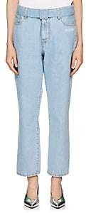 Off-White Women's Belted Crop Jeans - Lt. Blue