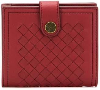 Bottega Veneta mini french wallet in Intrecciato