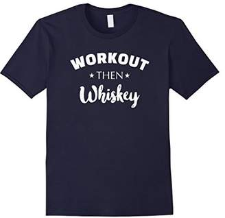 Workout Then Whiskey Funny Gym Running Shirt