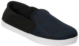 Dearfoams Men's Knit Fold Down Closed Back Slipper