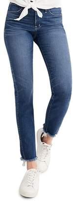 Madewell Raw Hem Slim Straight Leg Jeans
