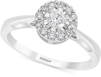Effy Diamond Engagement Ring (3/8 ct. t.w.) in Sterling Silver