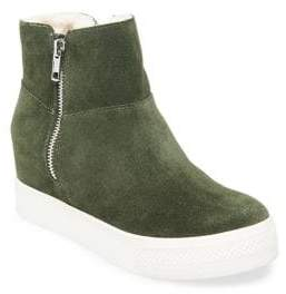 Steve Madden Wanda Faux Fur-Lined High-Top Suede Sneakers