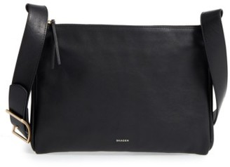Skagen Slim Anesa Leather Crossbody Bag - Black $175 thestylecure.com