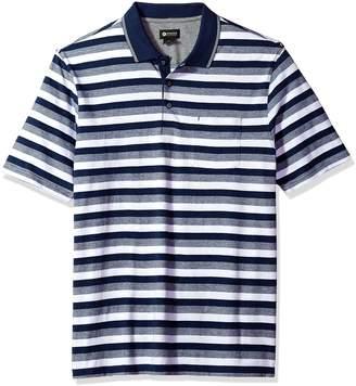 Haggar Men's Jersey Bold Stripe Polo