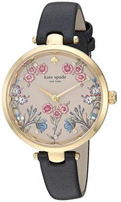 Kate Spade Women's 'Holland' Quartz Stainless Steel and Leather Watch